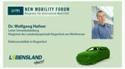 New Mobility Forum 2012 - Dr. Wolfgang Hafner - (Englische Version)