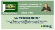 &quot;The Emerald Planet&quot;: Dr. Samuel Lee Hancock im Gesprch mit Dr. Wolfgang Hafner ...